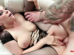 chesty redhead penny pax gets fisted and fed with beamy load be proper of jizz