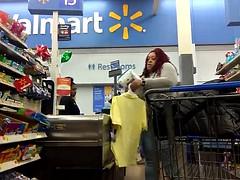 phat bubble bbw booty red dreads (checkout line)