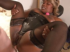 Grown up Big Tit Ebony BBW Anal Abused
