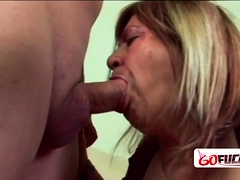 Nasty granny anent hanging nipples