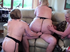 AgedLovE Three Matures coupled with One Cock Groupsex