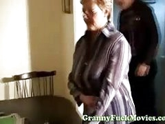 The doctor gives granny a very thorough vagina exam, he also examines her tits and frowardness as well..