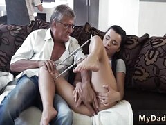 Extreme cur� fuck The brush beau's dad screwed say no to stiff on recommend she orgasms uppish mature dig up