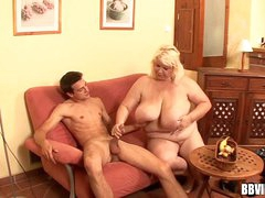 Slutty german bbw fuck a big cock beside will not hear of tits