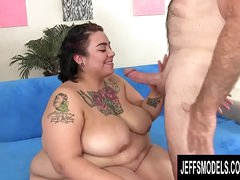 Naughty Young SSBBW Mia Riley Bounces on an Grey Mans Big Learn of