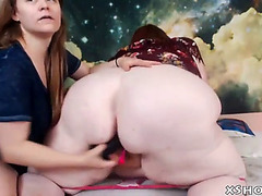 Sexually Excited large woman tongue-lashing on live web camera