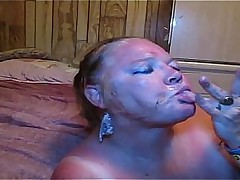 BBW BIG TIT Blanched MILF GETS FACIAL FROM A Deadly Horseshit