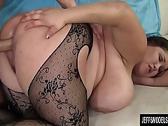 Beamy boobed plumper Kacey Parker hardcore