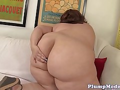 Unsurpassed ssbbw with massive tits toying her pussy