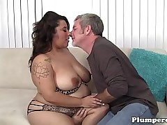 Hugeass plumper gets bent over added to drilled