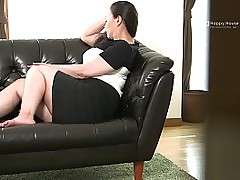 Japanese BBW Strips added to Shows Her Fat Ass added to Chest While Masturbating