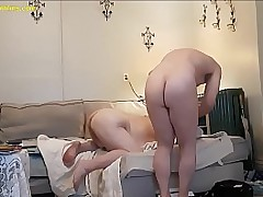 19-01-13 BBW Bondage old bag squirts from anal pounding