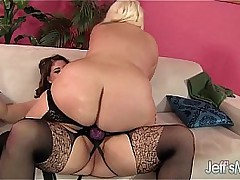 Roasting plumpers Angel with the addition of Jade rose homoerotic sex