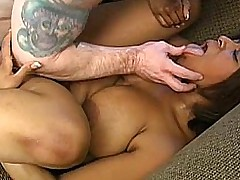 Aleera is a lovely busty black BBW who loves to fuck lucky white guys