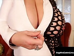 Humongous Boobed Angelina Castro & Sam 38G primate their massive tits, fondling, juggling & then rubbing their plump pussies until they cum! Full Video & Angelina Live @ AngelinaCastroLive.com!
