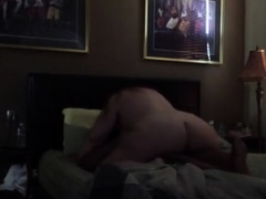 bbw rides together with cums hard on learn of