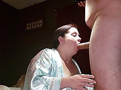 Obese MILF Wife Gets will not hear of Face Covered in Cum