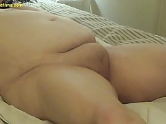 17/03/01 Bondage BBW barebacked in pussy and ass after toys