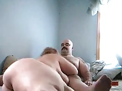 Quibbling wife sucking and riding me hard