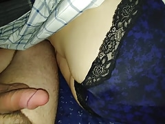 Cum beyond everything wife's panty ass