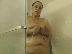 Real Big Spectacular Woman Full Homemade Shower